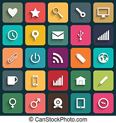 Vector Design Flat icons for Web