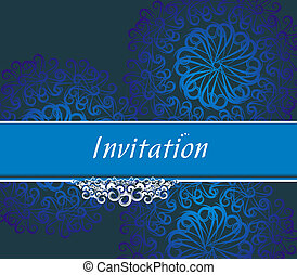 Vector design for party invitation card, Just place your own texts and titles.