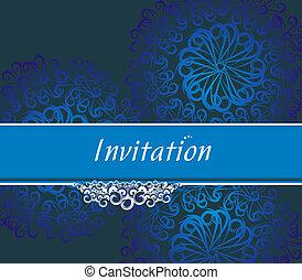 invitation card - Vector design for party invitation card, ...