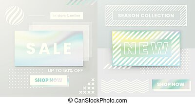 Vector Design for Sale Web Banners, Posters