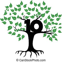 10 Years Anniversary Tree Logo