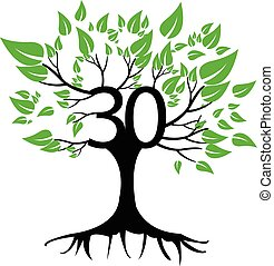 30 Years Anniversary Tree Logo