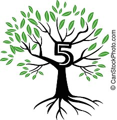 5 Years Anniversary Tree Logo