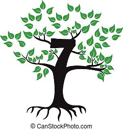 7 Years Anniversary Tree Logo