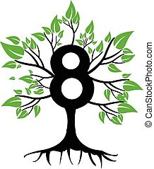 8 Years Anniversary Tree Logo