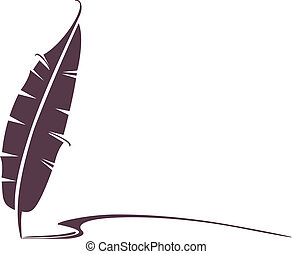 Vector design of a pen feather