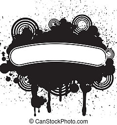 Vector design of abstract grunge tattoo