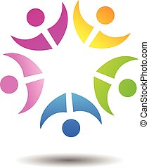 Abstract People Unity Logo