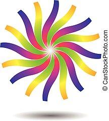 Abstract Sun Logo Icon Template