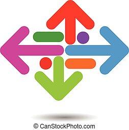 Arrow Concept Logo Icon