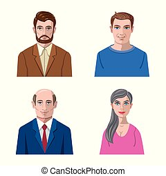Vector design of avatar and face icon. Collection of avatar and profile stock symbol for web.