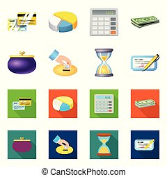 Vector design of bank and money logo. Set of bank and bill vector icon for stock.