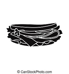 Vector illustration of bread and burger symbol. Graphic of bread and hoagie vector icon for stock.