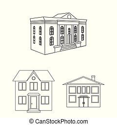 Vector design of building and city icon. Set of building and modern stock vector illustration.