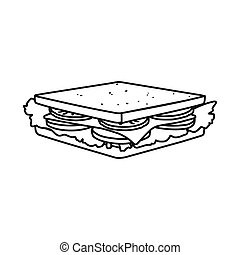 Vector illustration of burger and hoagie symbol. Web element of burger and toast stock vector illustration.