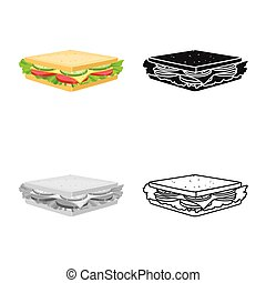 Vector illustration of burger and hoagie icon. Web element of burger and toast stock vector illustration.