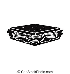 Vector illustration of burger and hoagie logo. Web element of burger and toast vector icon for stock.