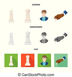 Vector design of checkmate and thin sign. Collection of checkmate and target stock symbol for web.