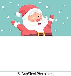 Vector design of cheerful Santa Claus for Christmas card