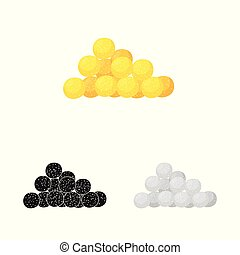 Vector design of corn and flake icon. Set of corn and snack stock symbol for web.