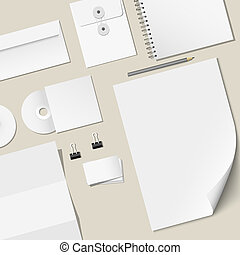 Vector design of corporate templates