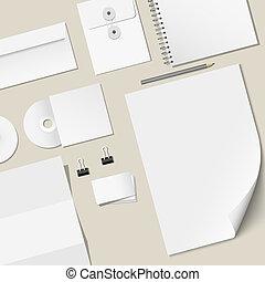 Vector design of corporate templates