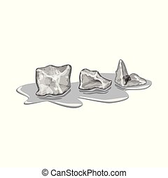 Vector design of cube and ice icon. Collection of cube and kitchen vector icon for stock.