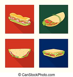 Vector illustration of dinner and cuisine logo. Collection of dinner and breakfast stock symbol for web.