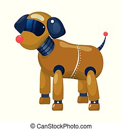 Vector design of dog and robotic symbol. Collection of dog and automation vector icon for stock.