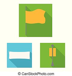 Vector design of fabric and white symbol. Set of fabric and presentation stock vector illustration.