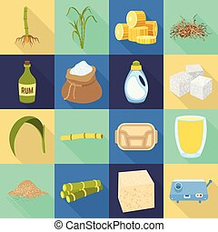 Vector design of farm and agriculture sign. Collection of farm and sweet stock vector illustration.