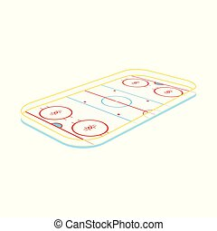 Vector design of field and hockey sign. Set of field and rink stock symbol for web.