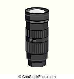 Vector design of flashlight and battery symbol. Collection of flashlight and light stock symbol for web.