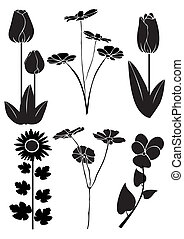 Vector design of flowers 4