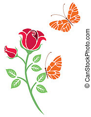 vector design of flowers and butter