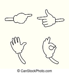 Vector design of gestures and pose icon. Set of gestures and comical stock vector illustration.