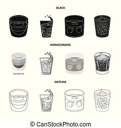 Vector design of glass and transparent sign. Collection of glass and empty stock vector illustration.