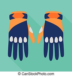 Vector design of gloves and dive icon. Graphic of gloves and waterproof vector icon for stock.
