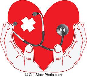 hand holding a heart