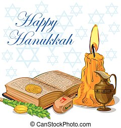 Happy Hanukkah festival celebration background - Vector ...