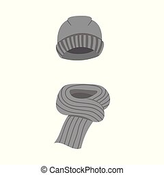 Vector design of hat and blue icon. Set of hat and orange...