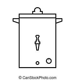 Vector illustration of heater and boiler sign. Web element of heater and device stock symbol for web.