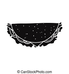 Vector illustration of hoagie and burger logo. Web element of hoagie and cheese stock symbol for web.