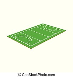 Vector design of hockey and field sign. Set of hockey and playing vector icon for stock.