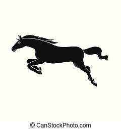 Vector design of horse and gallop logo. Set of horse and hoofed vector icon for stock.