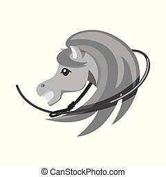 Vector design of horse and race logo. Collection of horse and animal vector icon for stock.