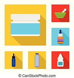 Vector design of hospital and help symbol. Collection of hospital and healthcare vector icon for stock.