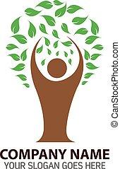 Human Tree Logo Icon Template