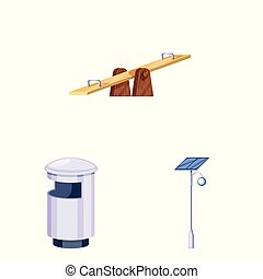 Vector design of landscape and park icon. Set of landscape and nature stock vector illustration.