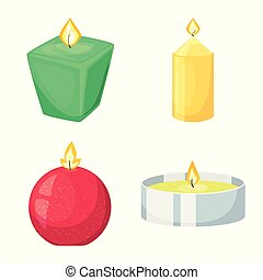 Vector design of light and wax sign. Collection of light and ceremony vector icon for stock.